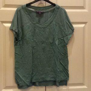 Women's Gloria Vanderbilt Shirt Green XL NWOT